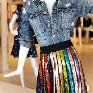 Alice + Olivia Sequin Midi Skirt